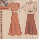 HOLLYWOOD PATTERN 1331 MISSES' 2 PC FROCK 2 VARIATIONS SIZE 20 CAROLE LOMBARD