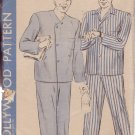 HOLLYWOOD VINTAGE PATTERN 1460 MEN'S PAJAMAS IN 2 VARIATIONS SIZE 38