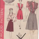 HOLLYWOOD PATTERN 1200 MISSES' JUMPER AND BLOUSE SIZE 14 MERLE OBERON