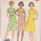 SIMPLICITY 5477 VINTAGE PATTERN MISSES' DRESS IN 2 VARIATIONS SIZE 12