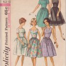 SIMPLICITY 5510 VINTAGE PATTERN MISSES' DRESS IN 5 VARIATIONS SIZE 12