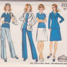 SIMPLICITY 5527 VINTAGE PATTERN MISSES' JACKET, TOP, SKIRT AND PANTS SIZE 16