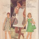 SIMPLICITY 5513 PATTERN JR/TEEN MINI DRESS IN 3 VARIATIONS, SHOULDER BAG SIZE 11/12