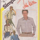 SIMPLICITY 5439 PATTERN MEN'S SHIRT IN 4 VARIATIONS SIZE 42