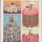 SIMPLICITY VINTAGE PATTERN 5474 ROUND TABLE CLOTHS AND NAPKINS