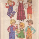 SIMPLICITY PATTERN 5382 TODDLER JUMPER, JUMPSUIT 2 LENGTHS SIZE 1