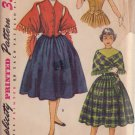 SIMPLICITY PATTERN 4392 GIRLS' WESKIT, SKIRT AND STOLE SIZE 12
