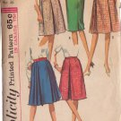 SIMPLICITY VINTAGE PATTERN 5884 MISSES' SKIRTS IN 5 VARIATIONS SIZE WASIT 26