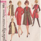 SIMPLICITY VINTAGE PATTERN 5667 MISSES' DRESS, REVERSIBLE SLEEVELESS COAT SZ 10