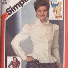 SIMPLICITY VINTAGE PATTERN 5671 MISSES' SET OF FITTED BLOUSES 4 VARIATIONS SZ 6