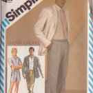 SIMPLICITY VINTAGE PATTERN 5867 TEEN BOY'S PANTS, SHORTS, SHIRT, UNLINED JACKET SIZE 20