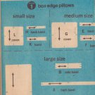 SIMPLICITY VINTAGE PATTERN 5718 SET OF BOX OR KNIFE EDGE PILLOWS SIZES SM/MD/LG