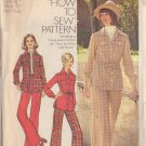 SIMPLICITY VINTAGE PATTERN 5851 MISSES' SHIRT-JACKET AND PANTS IN 2 VARIATIONS SIZE 18 1/2
