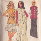 SIMPLICITY VINTAGE PATTERN 5800 MISSES' VEST SKIRT AND PANTS SIZE 12