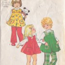 SIMPLICITY VINTAGE PATTERN 5872 GIRLS' JUMPER, BELL BOTTOM PANTS SIZE 3