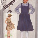 SIMPLICITY VINTAGE PATTERN 5605 GIRL'S BACK WRAP SUNDRESS OR JUMPER SIZE 10