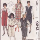 McCALL'S PATTERN 9213 MISSES' JUMPER AND TIE BELT IN 4 VARIATIONS SIZE 8 UNCUT