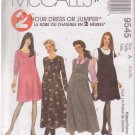 McCALL'S PATTERN 9545 MISSES' MATERNITY DRESS OR JUMPER SIZES 6/8/10 UNCUT