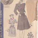 HOLLYWOOD PATTERN 1226 MISSES' 1940'S DRESS 2 VERSIONS, CAP SIZE 12 BETTY RHODES