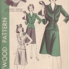 HOLLYWOOD PATTERN 927 1940'S 2 PC DRESS 2 VARIATIONS SIZE 14 MARGUERITE CHAPMAN