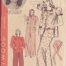 HOLLYWOOD PATTERN 1918 MISSES' 1940'S PAJAMAS, BONNET SZ 16 JANE WYMAN