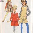 SIMPLICITY PATTERN 7793 GIRLS' DRESS, JUMPER, PANTJUMPER, COLLAR, CUFFS SIZE 7