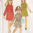 SIMPLICITY PATTERN 7786 GIRLS' SHIRT DRESS IN 2 VARIATIONS SIZE 10