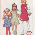 SIMPLICITY PATTERN 7783 GIRLS' DRESS OR JUMPER IN A CHUBBIE SIZE 10 1/2