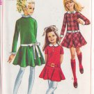 SIMPLICITY PATTERN 7781 GIRLS' DRESS WITH DETACHABLE COLLAR, CUFFS SIZE 7