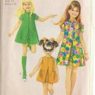 SIMPLICITY VINTAGE PATTERN 7664 GIRLS' DRESS IN 3 VARIATIONS SIZE 14