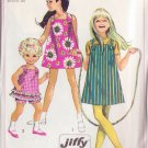 SIMPLICITY VINTAGE PATTERN 7709 GIRLS' DRESS, JUMPER, TOP, SHORTS SIZE 4