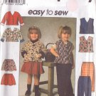 SIMPLICITY VINTAGE PATTERN 7736 TODDLERS' JACKET, VEST, SKIRT, PANTS SZ 1/2-1-2
