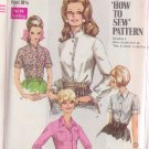 SIMPLICITY VINTAGE PATTERN 7780 MISSES' BLOUSE, 2 COLLARS, 4 VARIATIONS SIZE 10