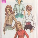 SIMPLICITY PATTERN 7727 MISSES' SHIRT IN 4 VARIATIONS SIZE 10 UNCUT
