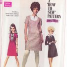 SIMPLICITY PATTERN 7736 YNG JR/TEEN DRESS, DETACHABLE COLLAR & CUFFS 3 VARIATIONS SIZE 9/10