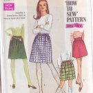 SIMPLICITY VINTAGE PATTERN 7735 MISSES' SKIRTS IN 2 LENGTHS SIZE 10
