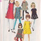 SIMPLICITY VINTAGE PATTERN 7834 GIRL'S DRESS OR JUMPER SZ 8