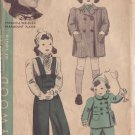 HOLLYWOOD PATTERN 1680 GIRL'S COAT AND SNOW PANTS SIZE 2 YEARS VIRGINIA WEIDLER
