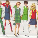 SIMPLICITY VINTAGE PATTERN 7828 YNG JR/TEEN JUMPER, TOP, SKIRT, PANTS SIZE 11/12