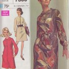 SIMPLICITY 7803 VINTAGE PATTERN MISSES' DESIGNER DRESS IN 2 VARIATIONS SIZE 12