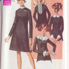 SIMPLICITY VINTAGE PATTERN 7843 MISSES' DRESS WITH DETACHABLE TRIMS SIZE 10 UNCUT