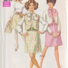 SIMPLICITY PATTERN 8040 MISSES' DRESS, JACKET, SLEEVELESS JACKET SIZE 10 UNCUT