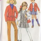 SIMPLICITY 7839 PATTERN CHILD'S JACKET, SLEEVELESS JACKET, SKIRT, PANTS SIZE 7
