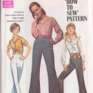 SIMPLICITY PATTERN 8009 MISSES' SHIRT, BELL BOTTOM PANTS SIZE 10 UNCUT