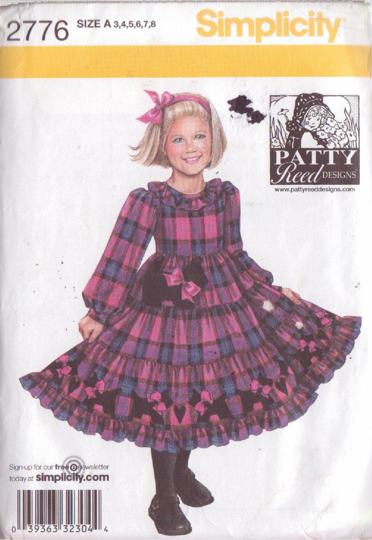SIMPLICITY PATTERN 2776 GIRL�S PATTY REED DESIGN DRESS SIZES 3-8