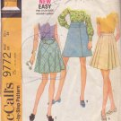 McCALL'S VINTAGE PATTERN 9772 MISSES' SKIRT IN 3 VARIATIONS SIZE 25 1/2 WAIST