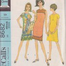 McCALL'S PATTERN 8682 MISSES' DRESS IN 2 VARIATIONS SIZE MEDIUM 12/13/14