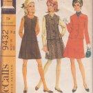 McCALL'S VINTAGE PATTERN 9432 MISSES' JUMPER DRESS AND JACKET SIZE 14