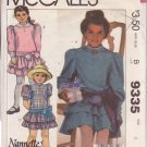 McCALL'S VINTAGE PATTERN 9335 CHILD'S NANNETTE DESIGN DRESS 3 VARIATIONS SIZE 8