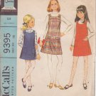 McCALL'S VINTAGE PATTERN 9395 CHILD'S JUMPER, BLOUSE 2 VARIATIONS SIZE 12
